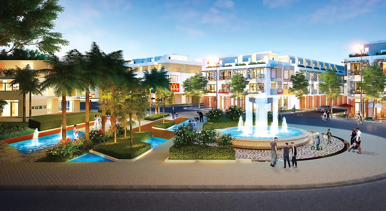 Khu trung tâm thương mai, công viên của khu đô thị Nam Phong Eco Park
