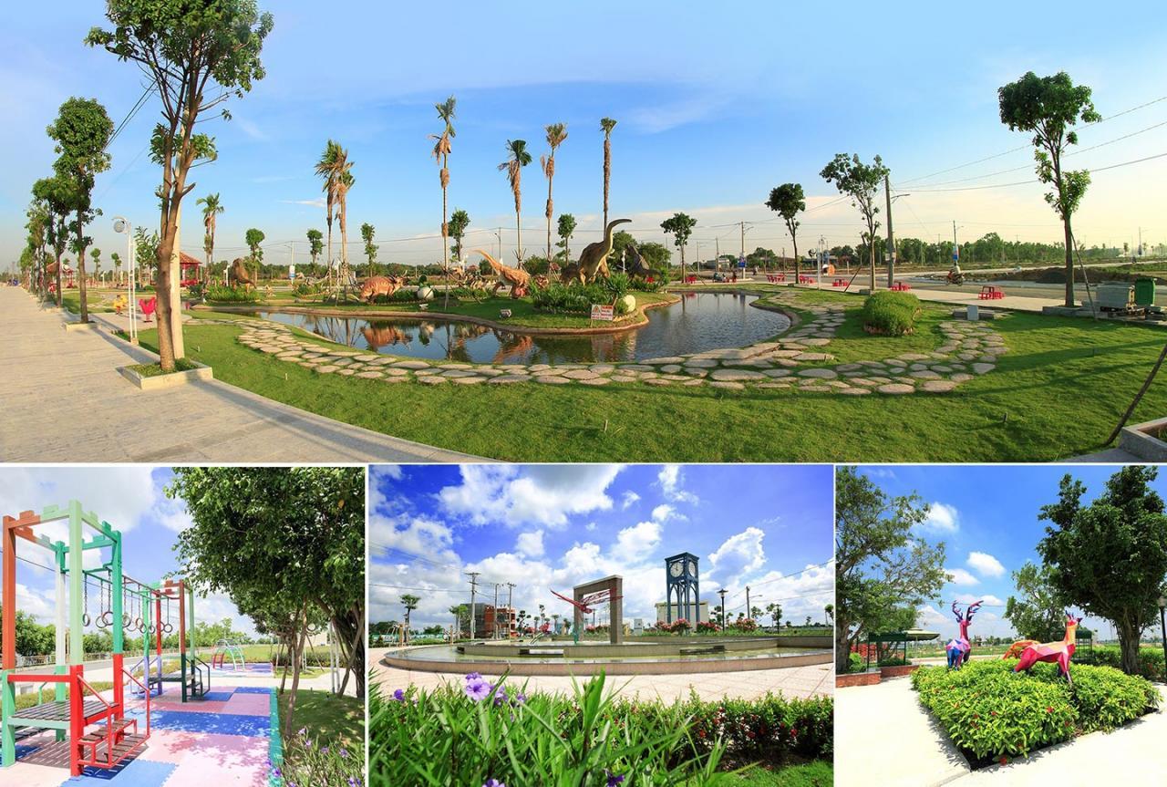 Các công viên vui chơi giải trí trải dài khắp khu đô thị