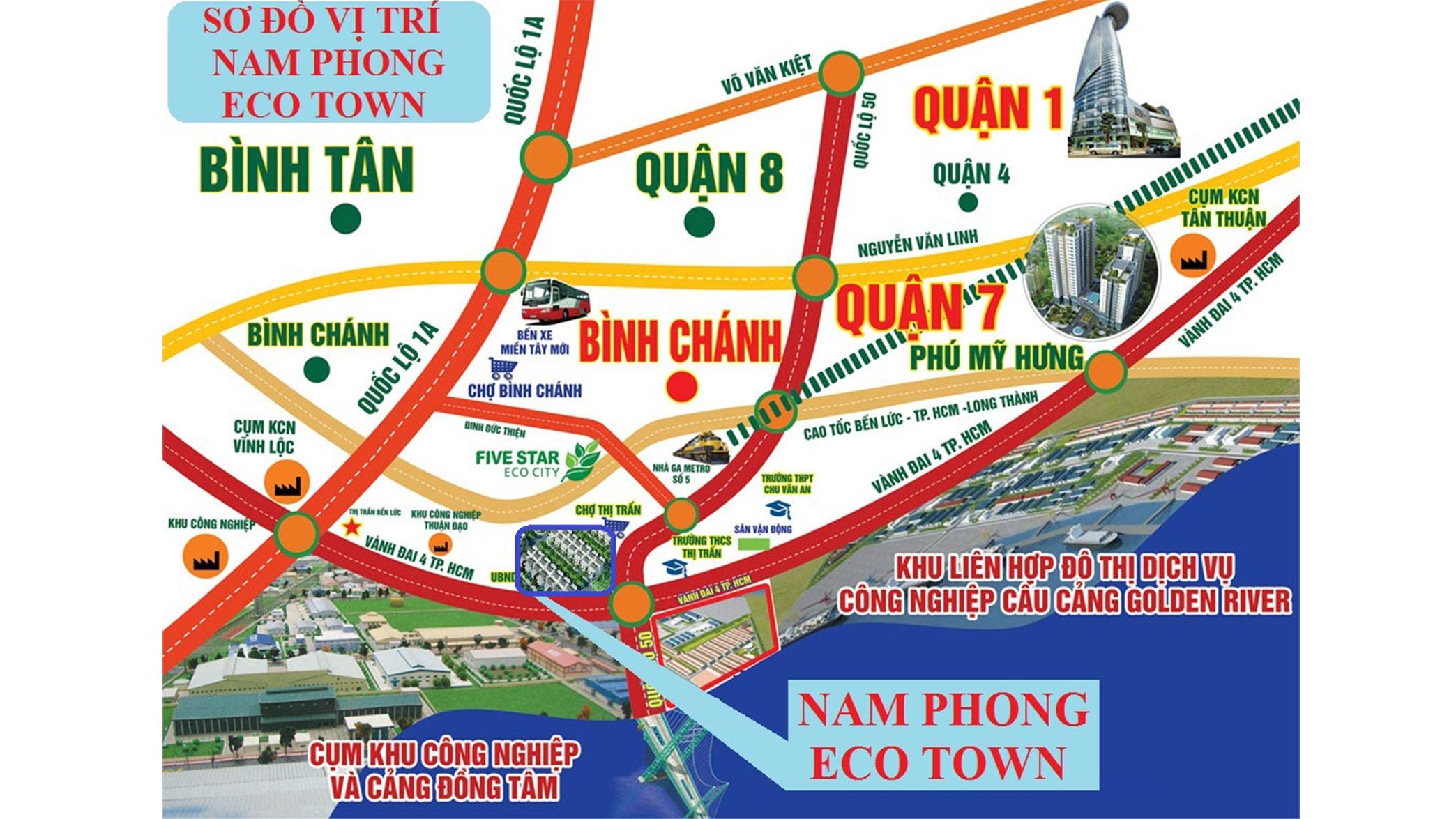sơ đồ vị trí nam phong eco town