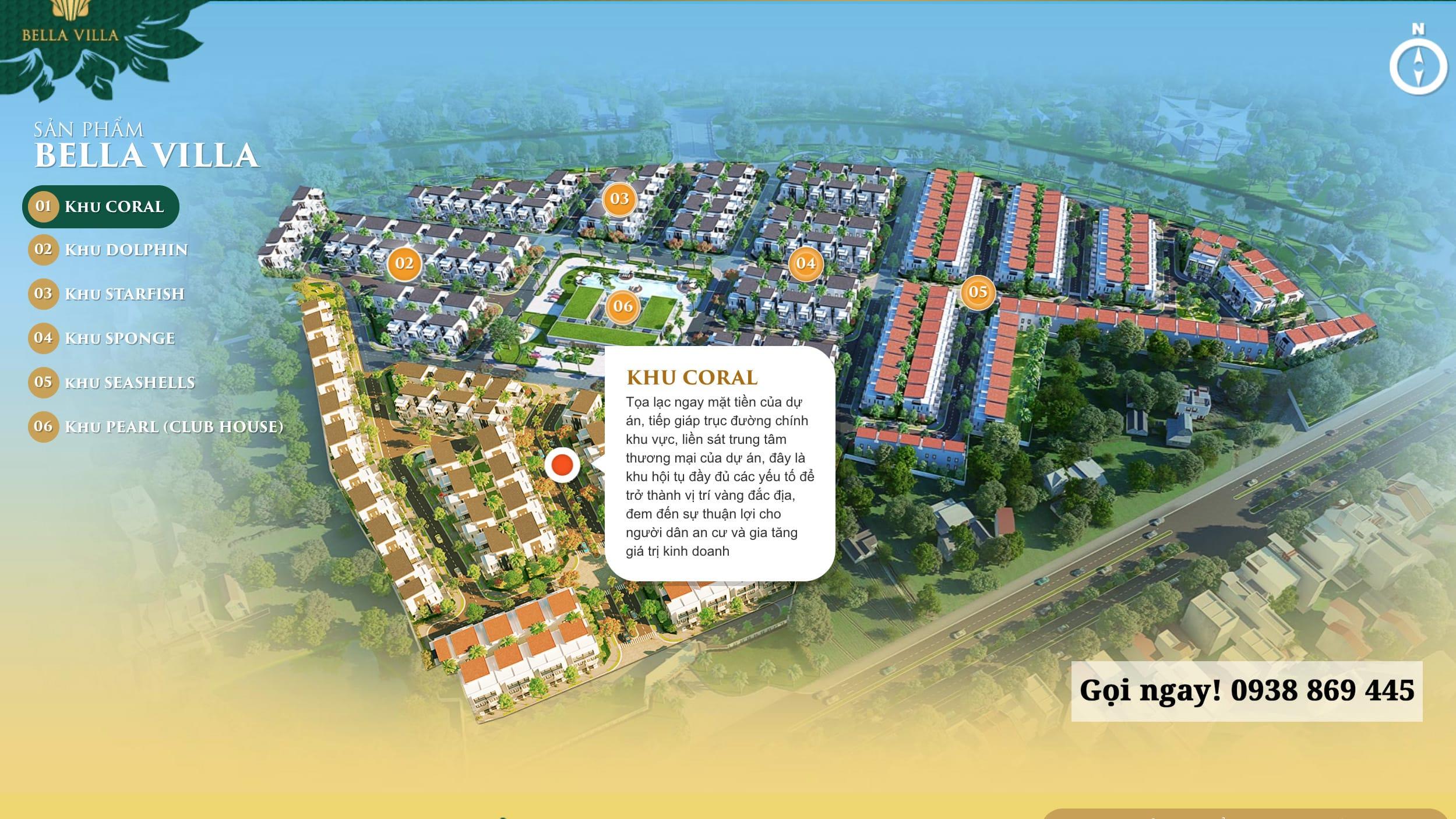 Dự án Bella Villa Trần Anh - Khu Coral