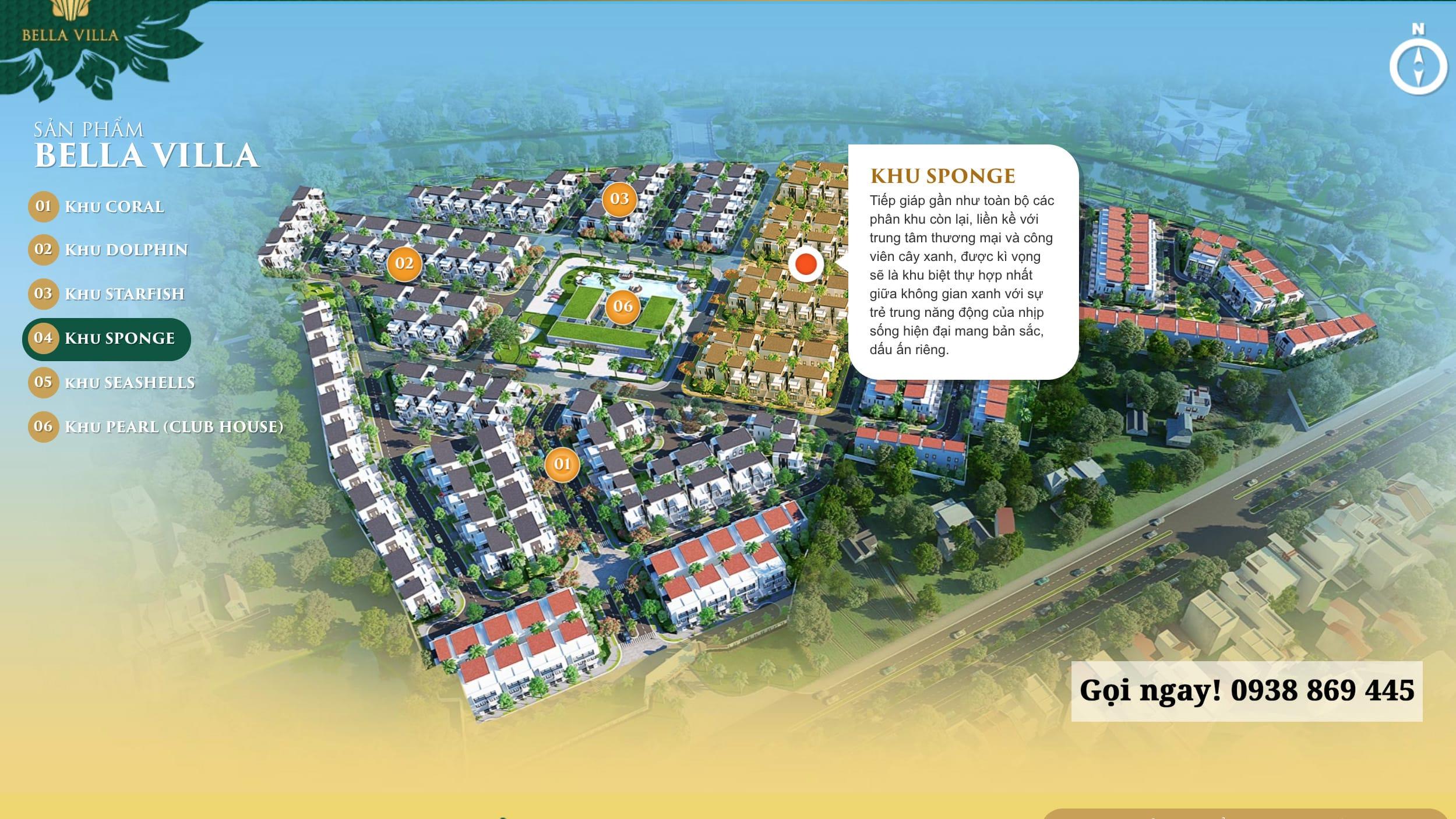 Dự án Bella Villa Đức Hòa, Trần Anh - Khu Sponge