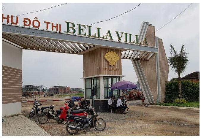 Dự án Bella Villa đang xây dựng