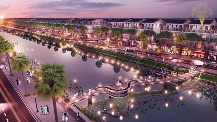 Biệt thự song lập Công viên ven hồ Công viên trung tâm Trung tâm thương mại Hồ sinh thái Vị trí Khu đô thị dự án Bella Vista City