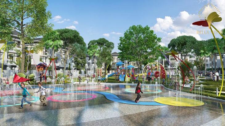 Công viên trung tâm Trung tâm thương mại Hồ sinh thái Vị trí Khu đô thị dự án Bella Vista City