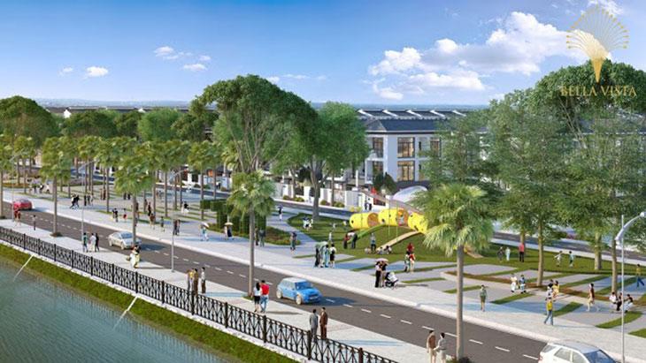 Công viên ven hồ Công viên trung tâm Trung tâm thương mại Hồ sinh thái Vị trí Khu đô thị dự án Bella Vista City