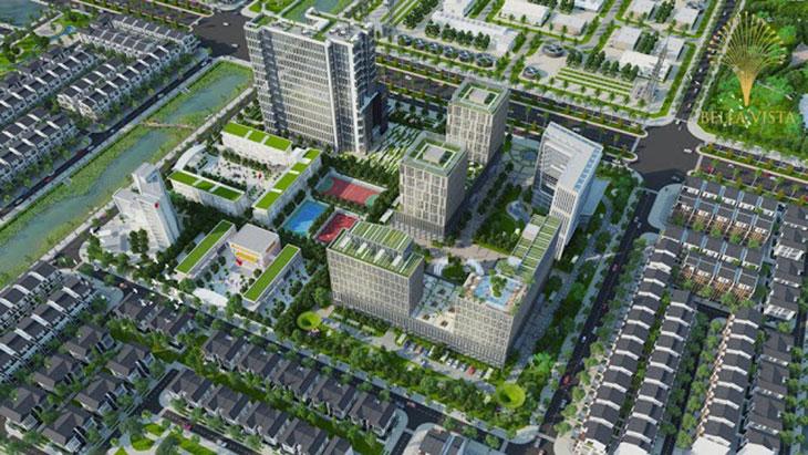 Trung tâm thương mại Hồ sinh thái Vị trí Khu đô thị dự án Bella Vista City