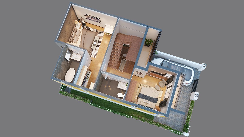 Biệt thự Trần Anh Riverside diện tích 8x15