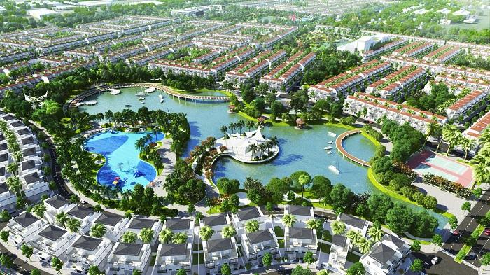 Khu đô thị Phúc An City được bao bọc bởi một không gian xanh rộng lớn