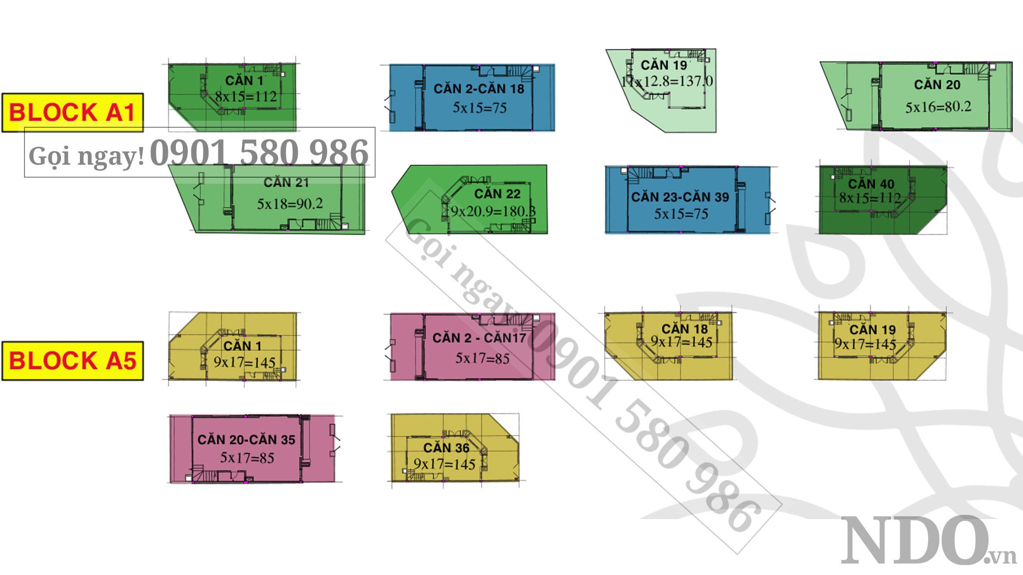 Khu đô thị Solar City tại Bến Lức có tổng 225 nhà phố diện tích đa dạng