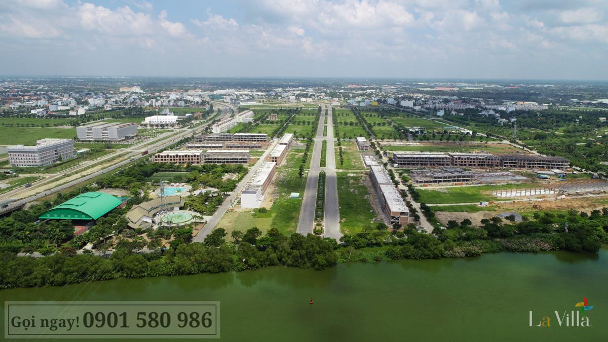 Hình thực tế dự án Lavilla Green City - Tân An tháng 7/2019