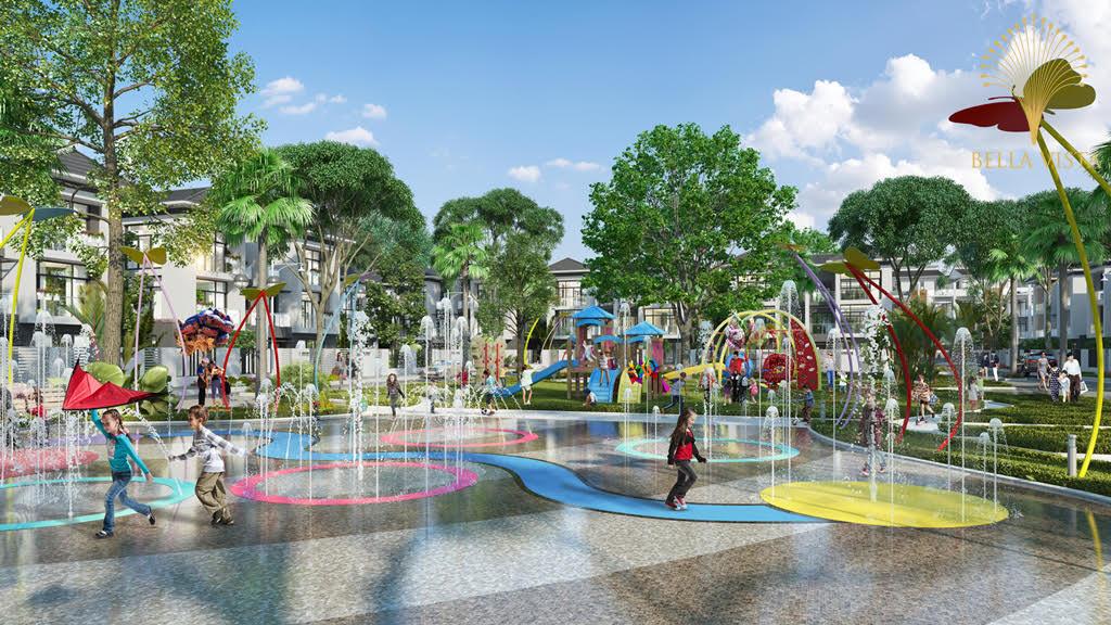 Phối cảnh khu vui chơi trẻ em tại khu đô thị Bella Vista Long An