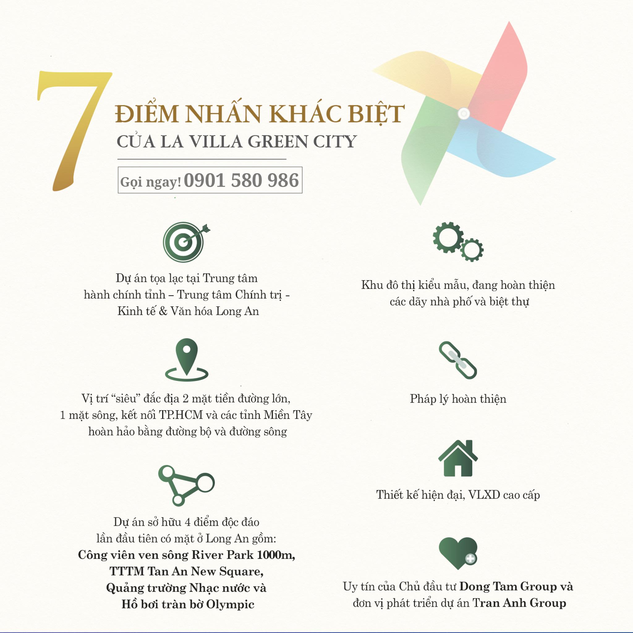 7 điểm khác biệt tạo nên LaVilla Green City tại Tân An